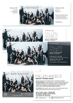 The YouTube, Facebook event and flyer graphics for the 2015 Cor Flammae summer season.