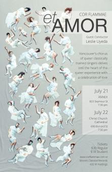 Poster for Cor Flammae's 2017 etAMOR concerts.
