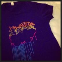 Handmade silkscreen t-shirt.